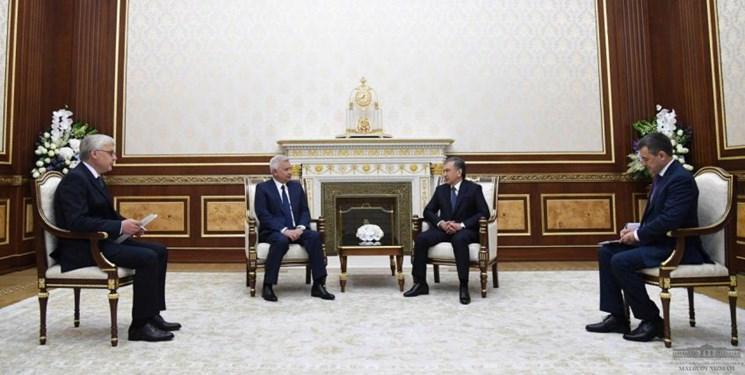 تأکید میرضیایف بر گسترش همکاری ها با روسیه در صنایع نفت و گاز