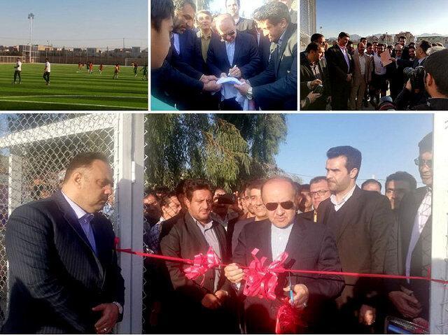 افتتاح زمین چمن مصنوعی استاندارد یزد با حضور وزیر ورزش و جوانان
