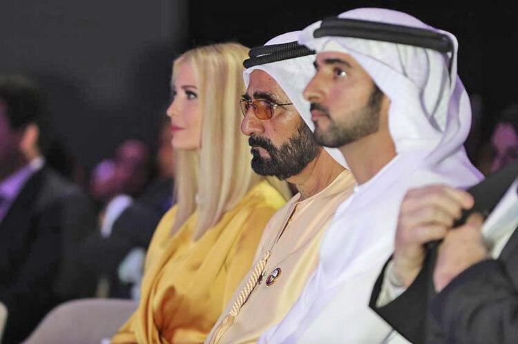 سخنرانی زنانه دختر ترامپ در جمع زنان کارآفرین و شاهزاده های خلیج فارس