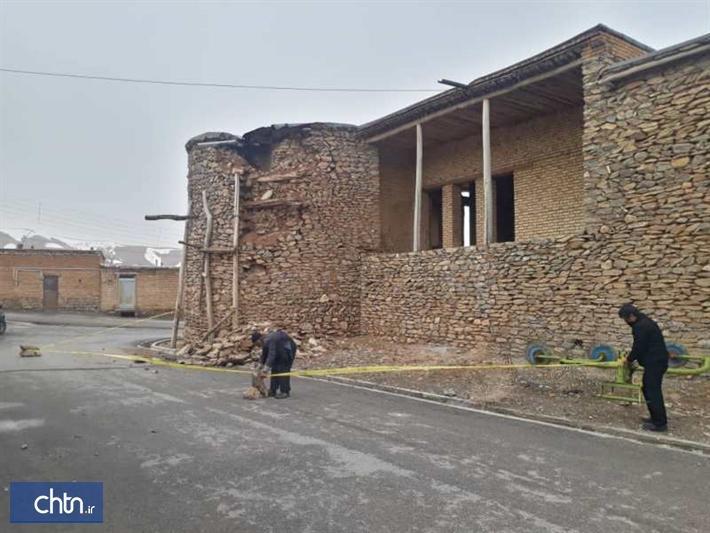 آسیب بارندگی به بخشی از جبهه شرقی قلعه تاریخی بارده در چهارمحال و بختیاری