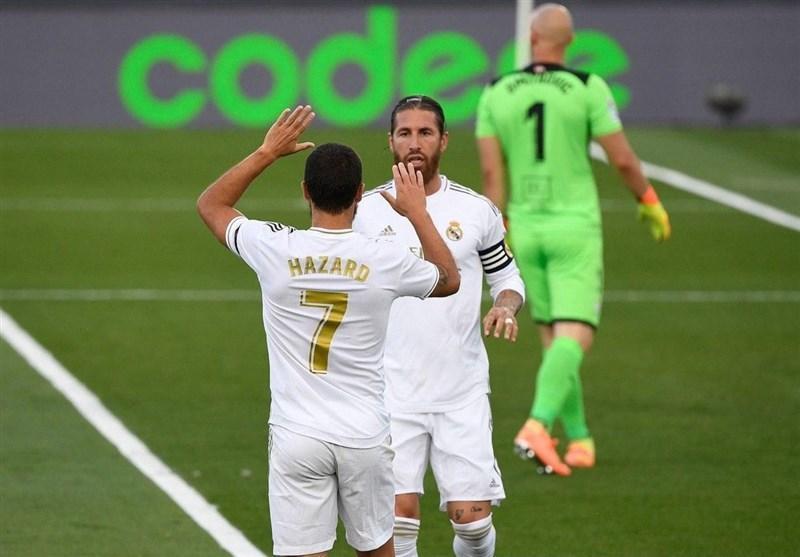لالیگا، رئال مادرید با پیروزی در استادیوم جدیدش به تعقیب بارسلونا ادامه داد